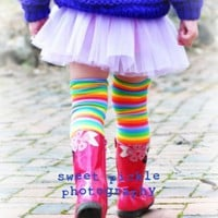 Crawler Covers Baby Toddler Leg WarmersRainbow by fategoddess