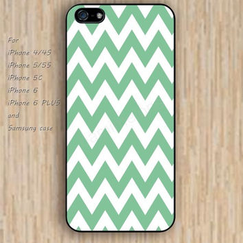 iPhone 6 case dream white green chevron iphone case,ipod case,samsung galaxy case available plastic rubber case waterproof B197