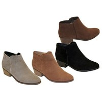 BEAUTY-03 Women Sneaker Petty Stacked Heel Side Zipper Ankle Booties