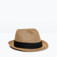 CONTRAST BAND STRAW HAT