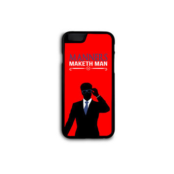 Kingsman Secret Service - Manners Maketh Man Case for iPhone 4/5/5C/6/6+ and Samsung S3/4/5 in Hard Plastic/Rubber FREE STANDARD SHIPPING!