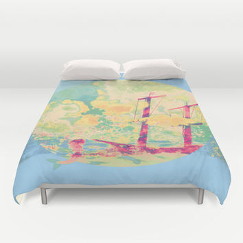 Sail in the Set Duvet Cover by Ben Geiger