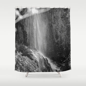 Loja`s waterfall Hell. Shower Curtain by Guido Montañés