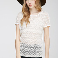 Embellished Chevron-Front Top