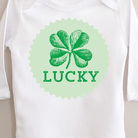 50 PERCENT OFF SALE Limited Edition Lucky Shamrock Tshirt long sleeve Irish My First St. Patricks Day Shirt St Paddys Day Outfit 4 Four Leaf