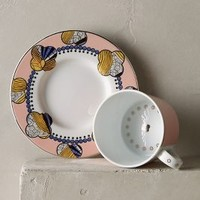 Cliveden Cup & Saucer by Anthropologie Coral Cup & Saucer Dinnerware
