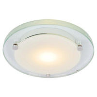 Forum Lighting - spa-20812-clr Leo IP44 Circular Bathroom Ceiling Light