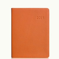 GiGi New York 2015 Desk Diary Orange Pebble Grain Leather
