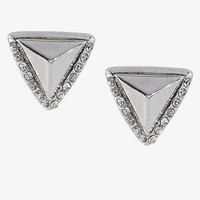 PYRAMIND AND PAVE STUD EARRINGS from EXPRESS