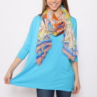 3/4th Sleeve Piko: Dazzling Blue