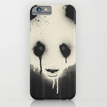 PANDA STARE iPhone & iPod Case by Dzeri29