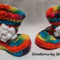0 To 3 Months Baby Crocheted Rainbo.. on Luulla