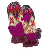 MUK LUKS® Girls' Mittens - Purple OSFM