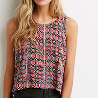 Abstract Tile Crop Top