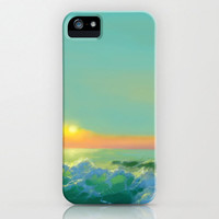 iPhone 5 Azul Seascape Case -  Ocean Wave Painting - Brazen Art Cell Phone Cover