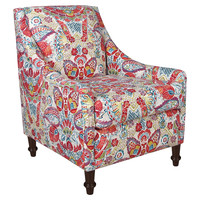 Holmes Accent Chair, Red Multi Floral, Accent & Occasional Chairs