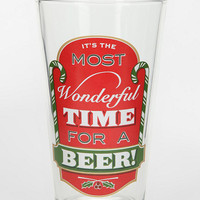 Time For A Beer Pint Glass
