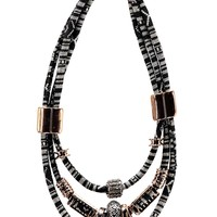 Bethan Multi Row Rope Statement Necklace