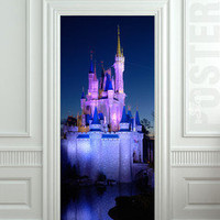 GIANT Door STICKER decole disney land castle film poster 31x79