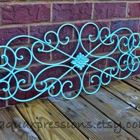 Aqua Blue Metal Wall Fixture