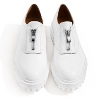 Jeffrey Campbell Tanya White Zip Oxfords