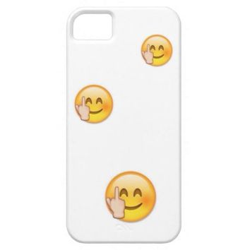 Middle Finger Emoji iPhone Case