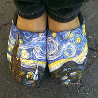 Custom Van Gogh TOMS Starry Night by iMightBeCreative on Etsy