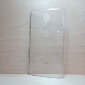 For Google Nexus 6 Clear Hard Plastic Snap On Case