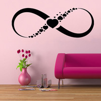 Love Wall Decals Infinity Sign Symbol Hearts Valentine's Day Gifts Art Home Interior Design Vinyl Decal Sticker Baby Kids Room Decor kk808