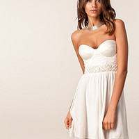 Mesh Bandeau Trim Dress, Elise Ryan