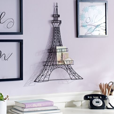 Wire eiffel tower decor from pbteen college ish - Eiffel tower decor for bedroom ...