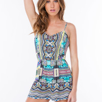 Yes Way Mirrored Tribal Romper
