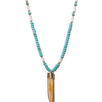 Jaimie Nicole | Turquoise and Mother of Pearl Horn Necklace