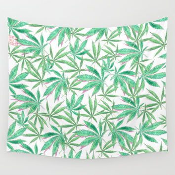 420 Leaves Wall Tapestry by Bryan James