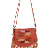 Tucson Traveler Orange Leather Purse