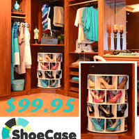 Lazy Susan Shoe Rack_Shoezan_ShoeCase_Shoe Organizer 24 Pairs_Shoe Carosel  on eBay!