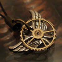 Steampunk Aviator Phone Charm by punqd on Etsy