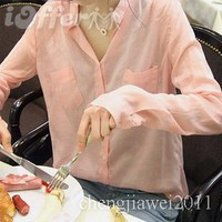 iOffer: 2012 Korean women casual stand-up collar t shirt for sale