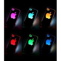Amazon.com: NEW Sense Flash light Case Cover for Apple iPhone 4 4S 4G LED LCD Color Changed: Cell Phones & Accessories