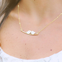 Gold Plated Birds Necklace