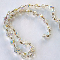 Aurora Borealis Glass Bead Necklace