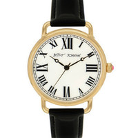VINTAGE BLACK STRAP WATCH - Betsey Johnson