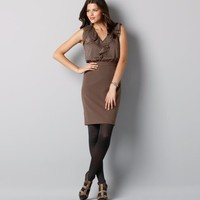 Loft - LOFT New Arrivals - Metallic Clip Dot Flutter Sleeve Dress