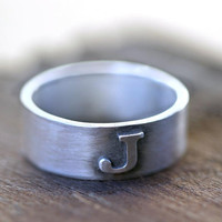 Personalized ring with custom monogram by monkeysalwayslook