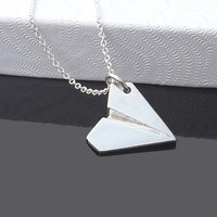 one direction pendant necklace - paper airplane pendant necklace - Directioner-1D Harry Style -one direction necklace