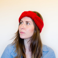 Knit Headband, Made to Order, Chunky Knit Earwarmer - More Colors Available