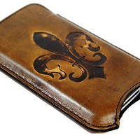 iPhone 4 Fleur De Lis Case Fleur by joevleather on Etsy