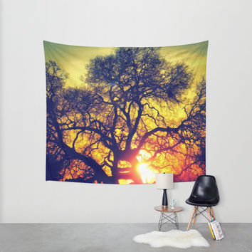Through the trees Wall Tapestry by DuckyB (Brandi)