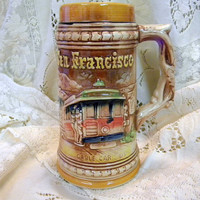 Vintage San Francisco beer stein ceramic souvenir made in Japan