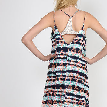 Neon Tribal Print Dress